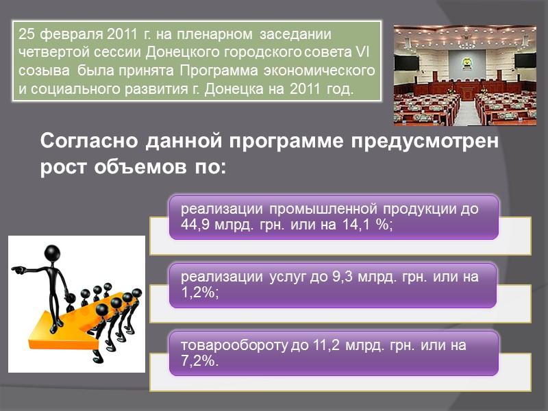 25 февраля 2011 г. на пленарном заседании четвертой сессии Донецкого городского совета VI созыва