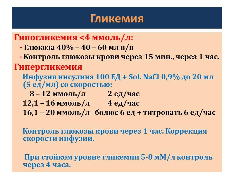 Инфузионная терапия: Качество инфузии: Характерен рост Na и снижение К. * Если Na <