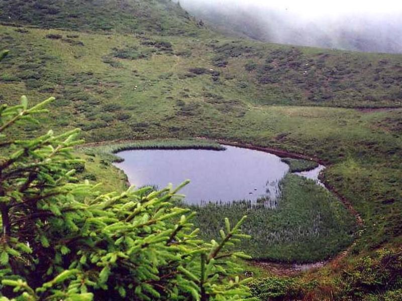 Брецкул - озеро льодовикового походження в Рахівському районі Закарпатської області. Лежить на південно-західному схилі