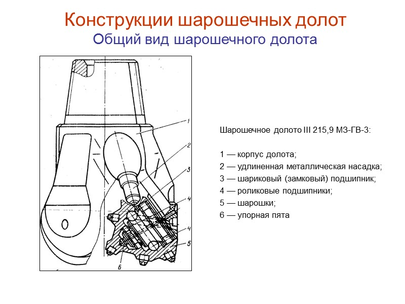 Детали шарошечного долота с твёрдосплавными вставками Пирамидальный резец  внутреннего венца Межвенцовая  канавка