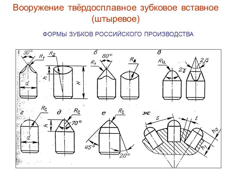 Детали шарошечного долота с фрезерованным вооружением Шарошка № 2  Шарошка №1 Шарошка №3