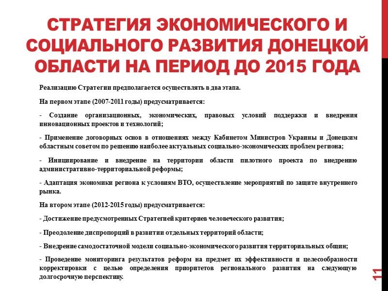 Динамика основных показателей развития Донецкого региона Валовый региональный продукт  3