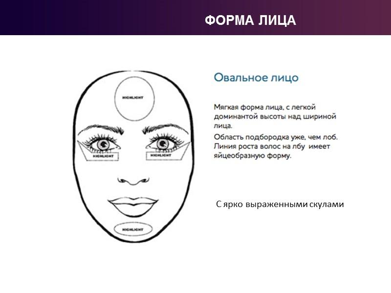 БЛОК 1. АНАЛИЗ ЛИЦА Традиционно правильной формой лица считается то, которое отличается плавными