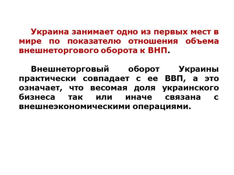 Товарная структура экспорта Украины в 2007-2011 годах, %
