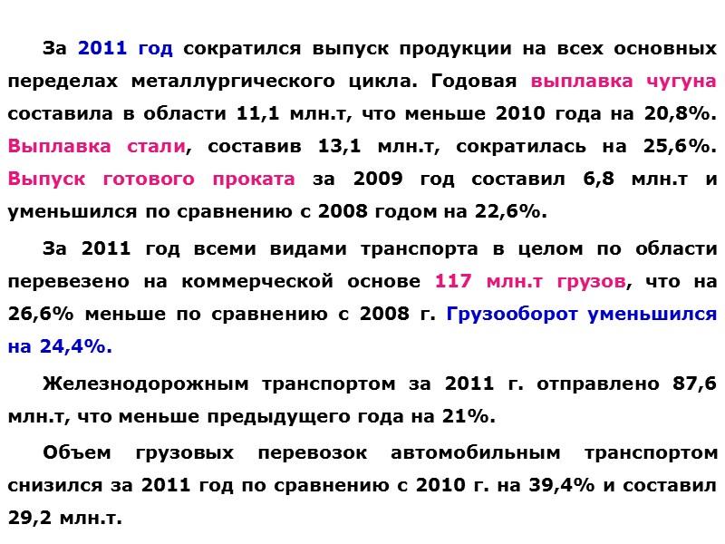 СТРУКТУРА ИМПОРТА ТОВАРОВ В ДОНЕЦКОЙ ОБЛАСТИ В 2010-11 Г., %