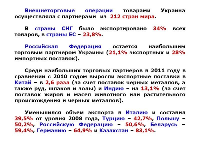 ДИНАМИКА ПЕРЕДАЧИ И ПРИОБРЕТЕНИЯ ТЕХНОЛОГИЙ В УКРАИНЕ В 2005-2011 ГОДАХ