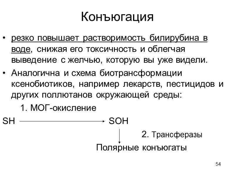 50 Соответственно времени полужизни = τ1/2  любого гемопротеида, В макрофагах проходит 1-я фаза
