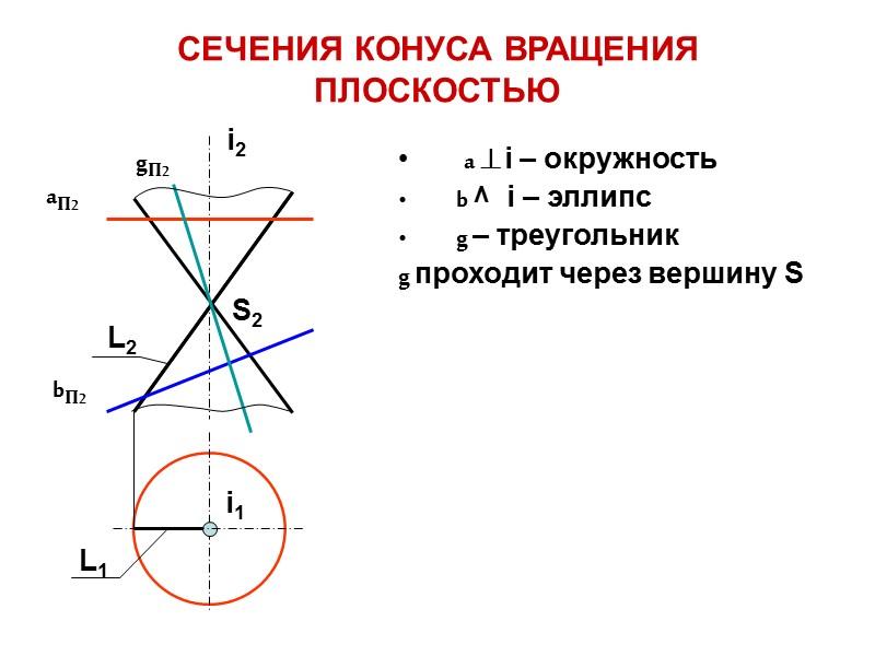 ЦИЛИНДРИЧЕСКАЯ ПОВЕРХНОСТЬ ВРАЩЕНИЯ i – ось вращения 2.    L – прямолинейная