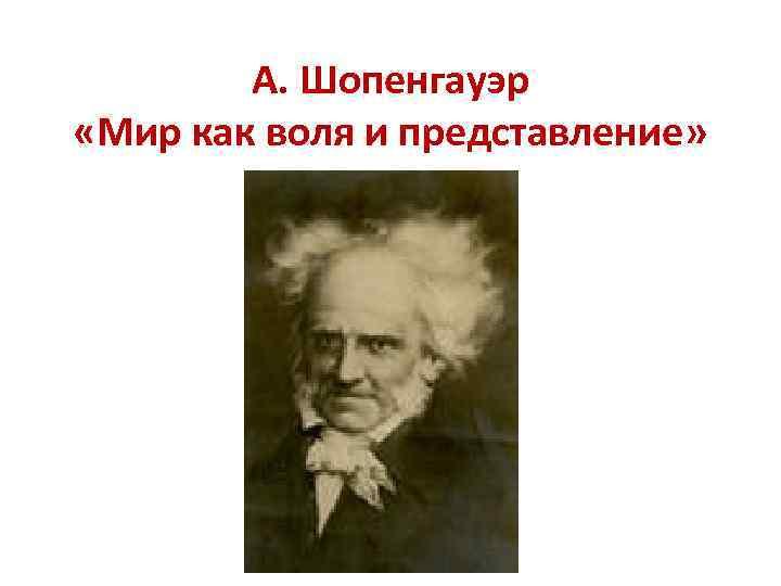 А. Шопенгауэр «Мир как воля и представление»