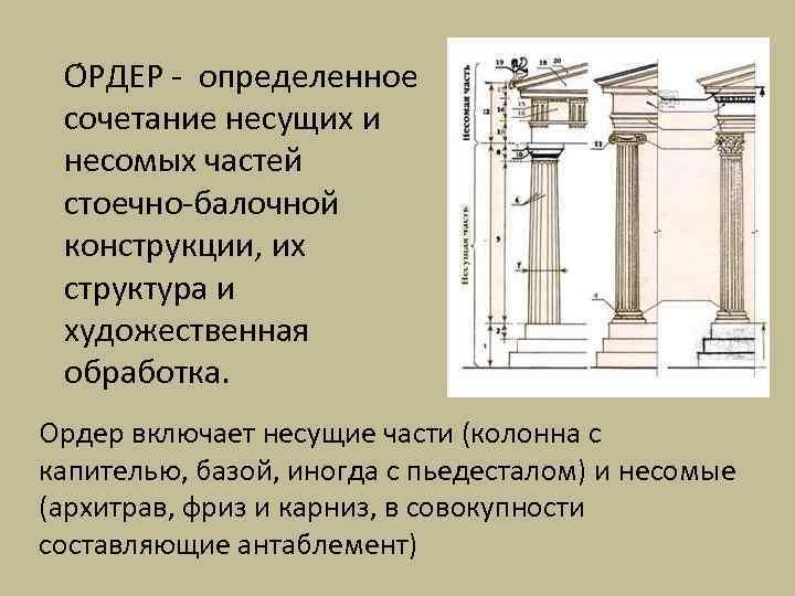 О РДЕР - определенное сочетание несущих и несомых частей стоечно-балочной конструкции, их структура и