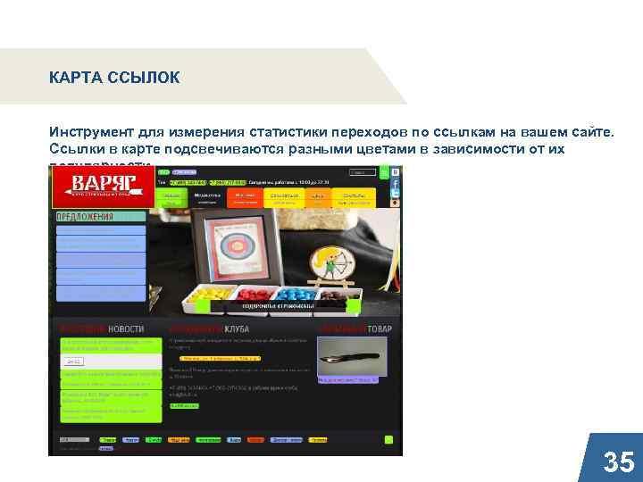 КАРТА ССЫЛОК Инструмент для измерения статистики переходов по ссылкам на вашем сайте. Ссылки в