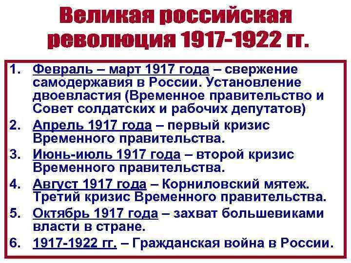 1. Февраль – март 1917 года – свержение самодержавия в России. Установление двоевластия (Временное