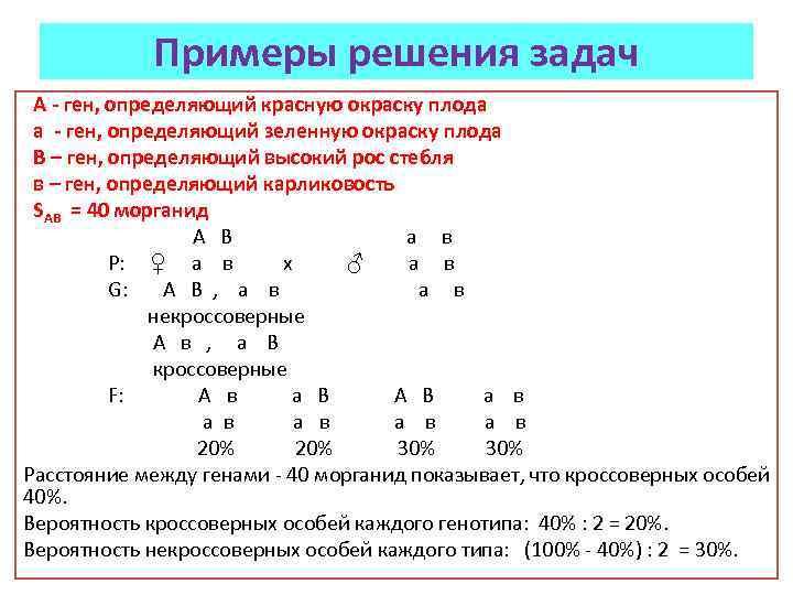 Примеры решения задач А - ген, определяющий красную окраску плода а - ген, определяющий