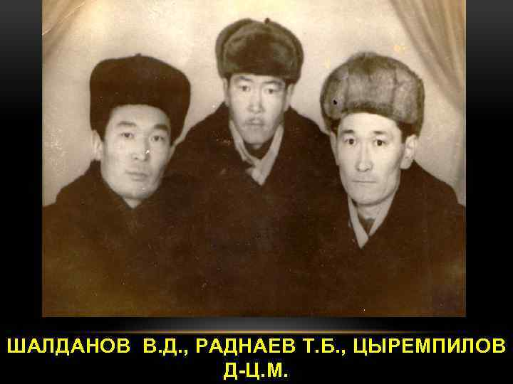 ШАЛДАНОВ В. Д. , РАДНАЕВ Т. Б. , ЦЫРЕМПИЛОВ Д-Ц. М.