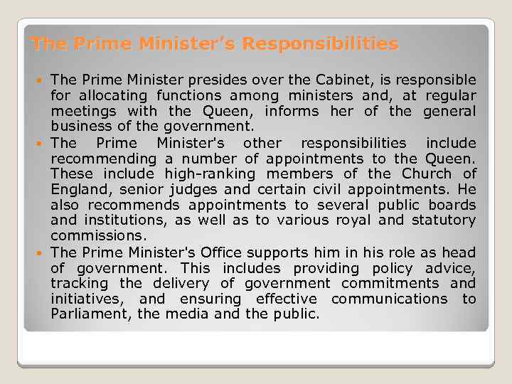 the prime ministers powerful better half essay The essay will be made up of 3 body paragraphs which  many feel that prime ministers hold too much power in  the prime minister's powerful better half mini.