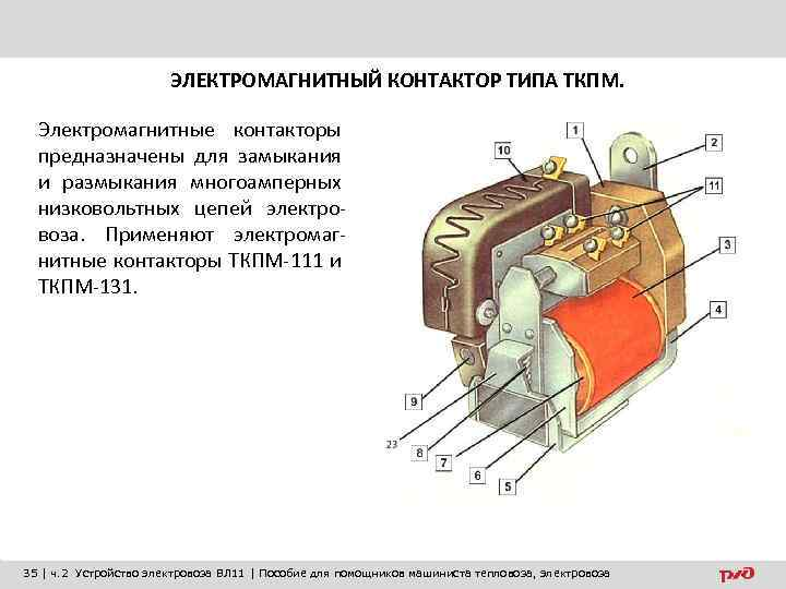 ЭЛЕКТРОМАГНИТНЫЙ КОНТАКТОР ТИПА ТКПМ. Электромагнитные контакторы предназначены для замыкания и размыкания многоамперных низковольтных цепей