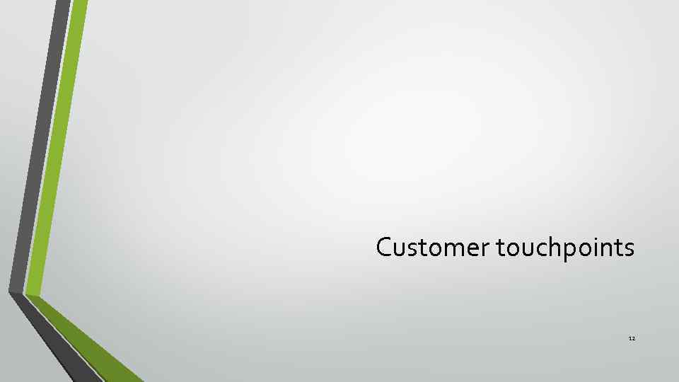 Customer touchpoints 12