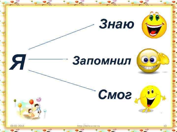 Знаю Я Запомнил Смог 09. 02. 2018 http: //aida. ucoz. ru 10