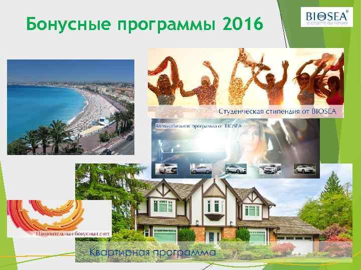 Бонусные программы 2016 28