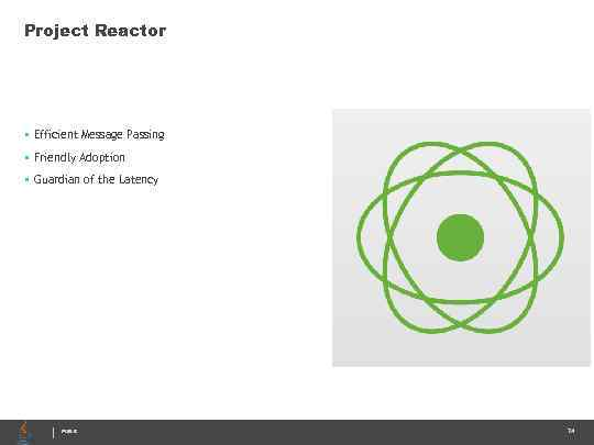 Project Reactor • Efficient Message Passing • Friendly Adoption • Guardian of the Latency