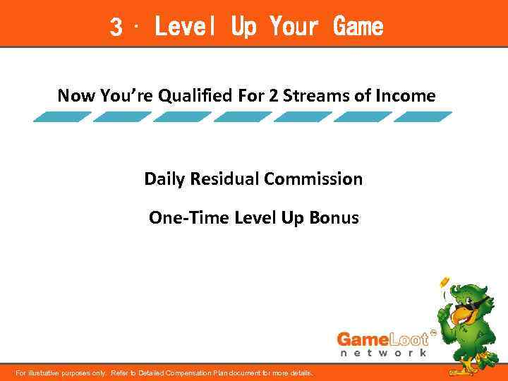 3 ⋅ Level Up Your Game Now You're Qualified For 2 Streams of Income