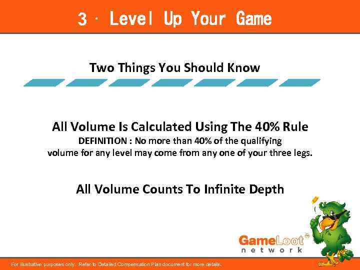 3 ⋅ Level Up Your Game Two Things You Should Know All Volume Is
