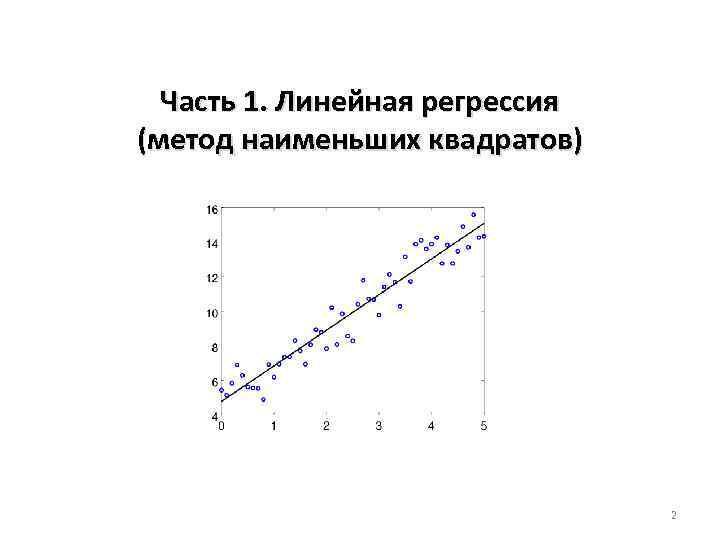 Часть 1. Линейная регрессия (метод наименьших квадратов) 2