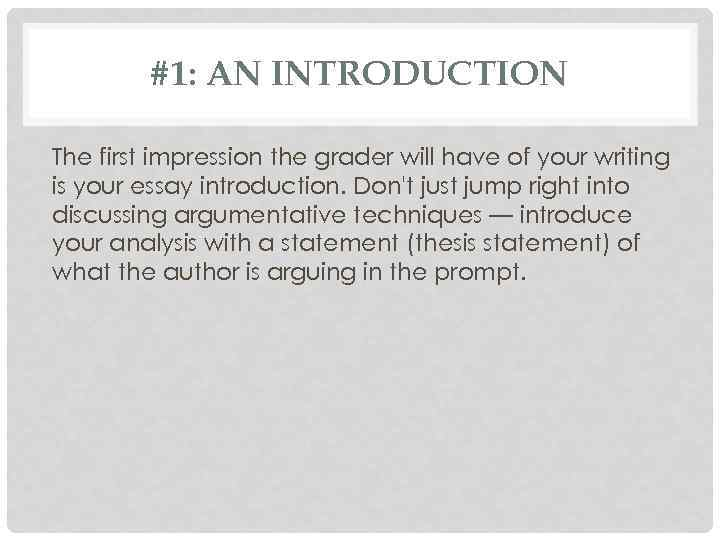 first impression essay introduction