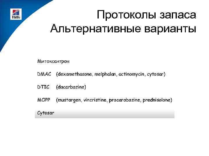 Протоколы запаса Альтернативные варианты