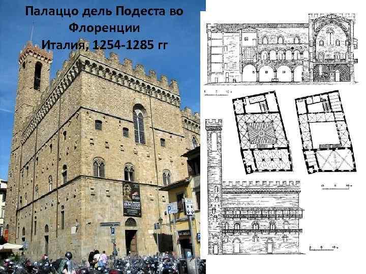 Палаццо дель Подеста во Флоренции Италия, 1254 -1285 гг