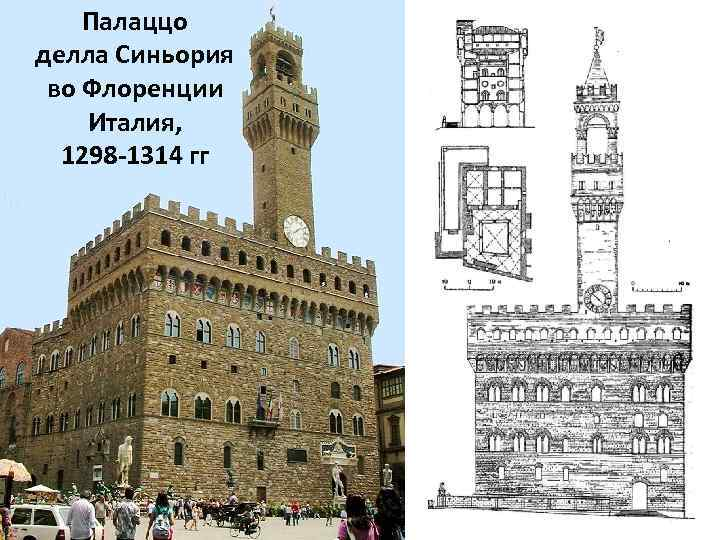 Палаццо делла Синьория во Флоренции Италия, 1298 -1314 гг