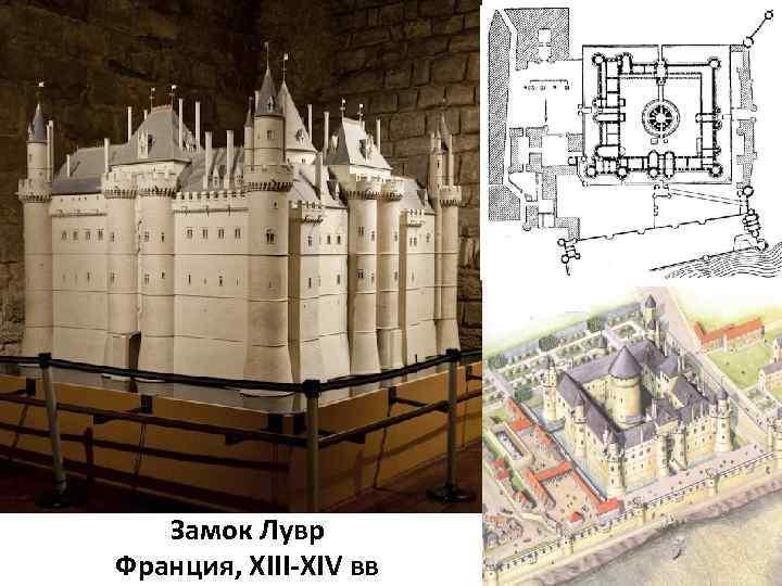 Замок Лувр Франция, XIII-XIV вв