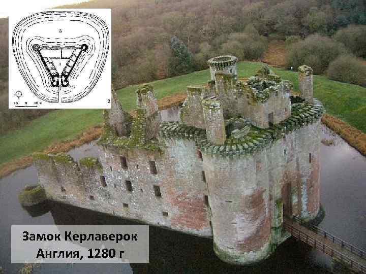 Замок Керлаверок Англия, 1280 г