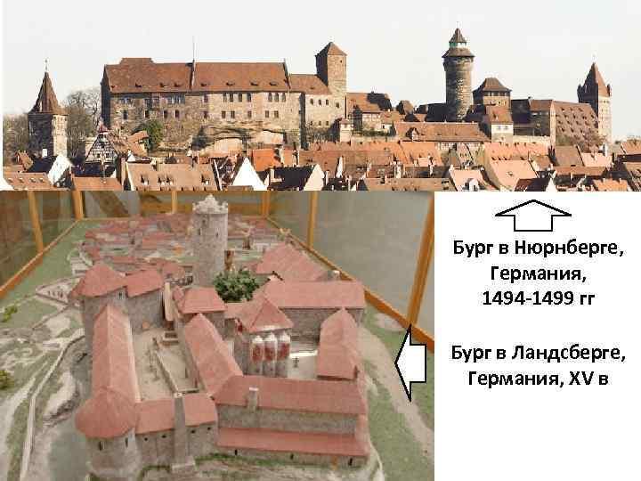 Бург в Нюрнберге, Германия, 1494 -1499 гг Бург в Ландсберге, Германия, XV в