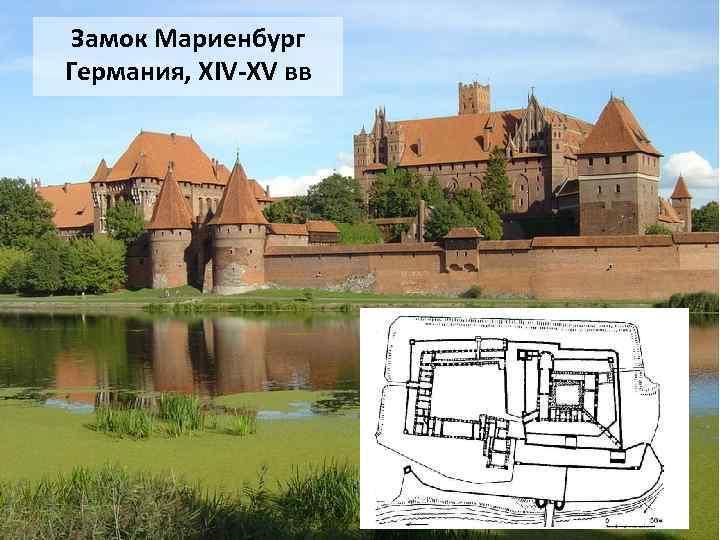 Замок Мариенбург Германия, XIV-XV вв