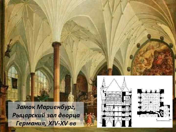 Замок Мариенбург, Рыцарский зал дворца Германия, XIV-XV вв