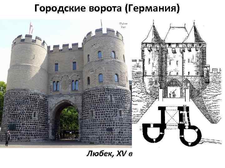 Городские ворота (Германия) Любек, XV в