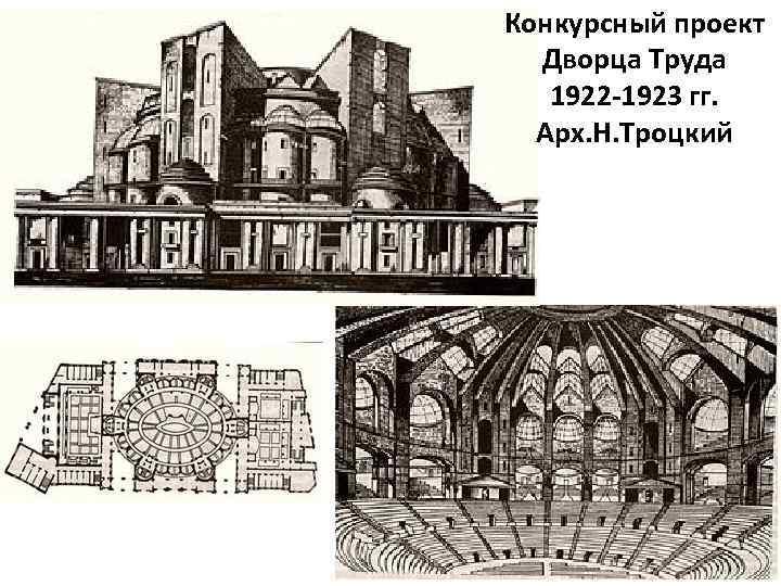 Конкурсный проект Дворца Труда 1922 -1923 гг. Арх. Н. Троцкий