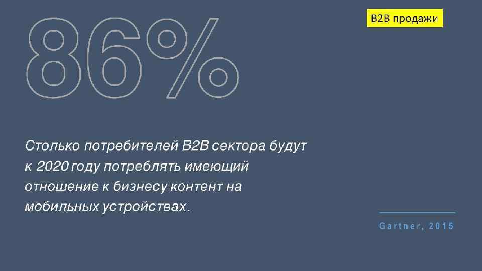 86% B 2 B продажи Столько потребителей B 2 B сектора будут к 2020