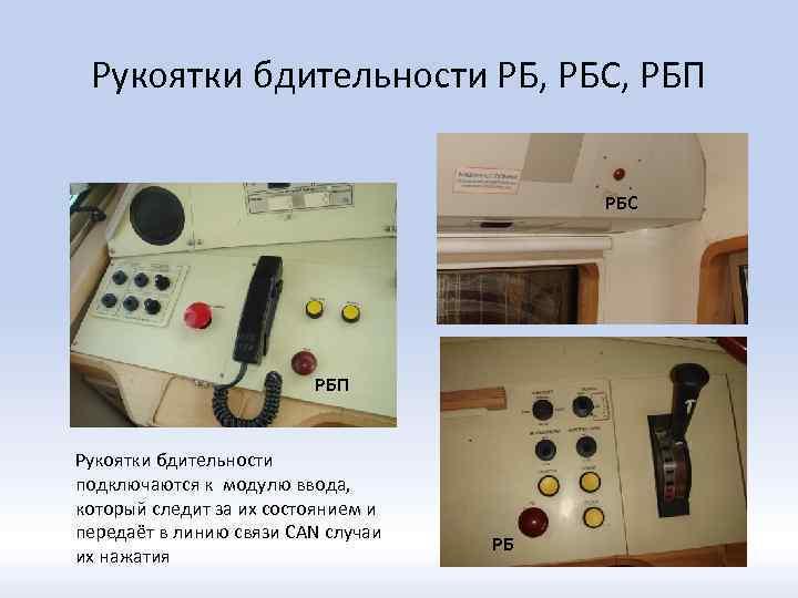 Рукоятки бдительности РБ, РБС, РБП РБС РБП Рукоятки бдительности подключаются к модулю ввода, который