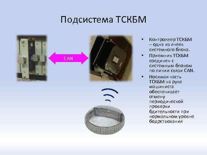 Подсистема ТСКБМ • CAN • • Контроллер ТСКБМ – одна из ячеек системного блока.