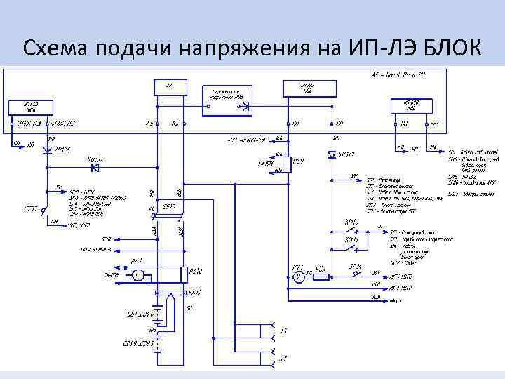 Схема подачи напряжения на ИП-ЛЭ БЛОК
