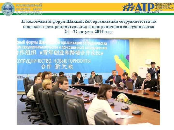 II молодёжный форум Шанхайской организации сотрудничества по вопросам предпринимательства и приграничного сотрудничества 24 –