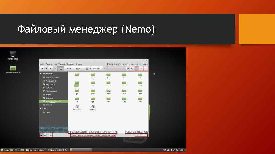 Файловый менеджер (Nemo)