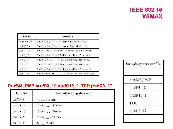 IEEE 802. 16 Wi. MAX Prof. M 3_РМР. prof. P 3_10. prof. R 10_1.