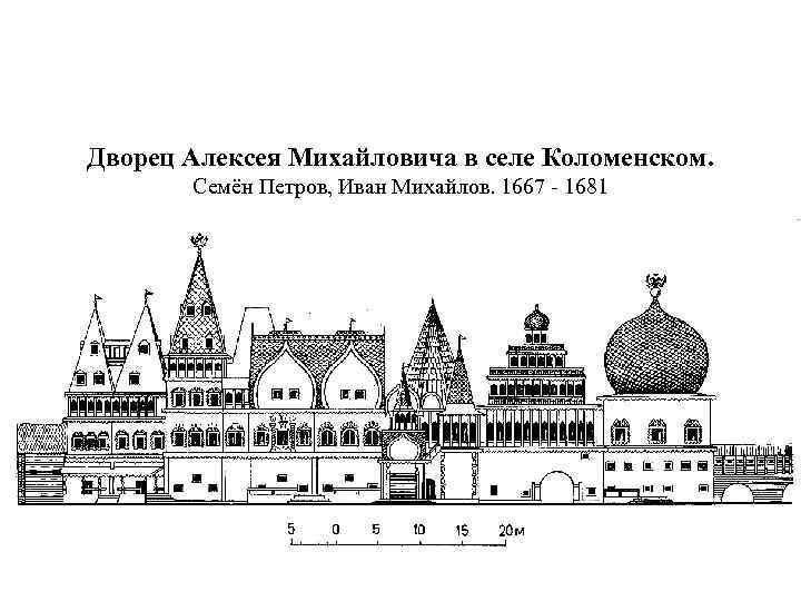 Дворец Алексея Михайловича в селе Коломенском. Семён Петров, Иван Михайлов. 1667 - 1681