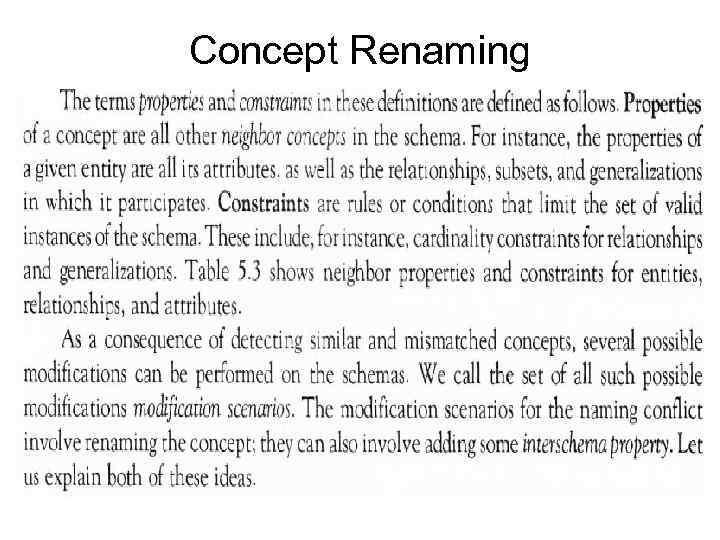 Concept Renaming