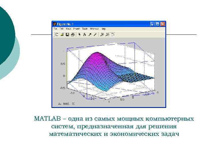 MATLAB – одна из самых мощных компьютерных систем, предназначенная для решения математических и экономических