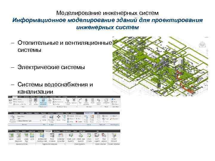 Моделирование инженерных систем Информационное моделирование зданий для проектирования инженерных систем – Отопительные и вентиляционные