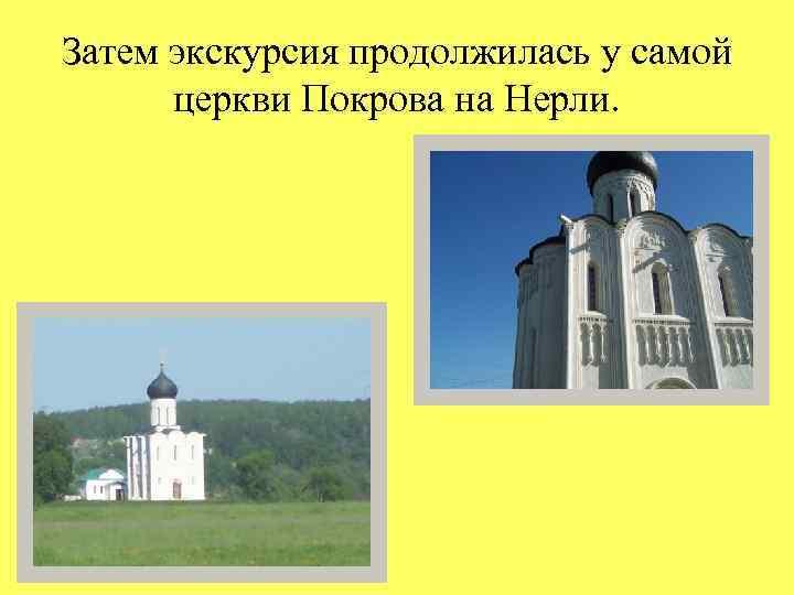 Затем экскурсия продолжилась у самой церкви Покрова на Нерли.